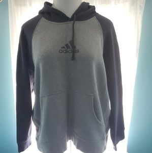 Women's navvy and gray hooded sweatshirt